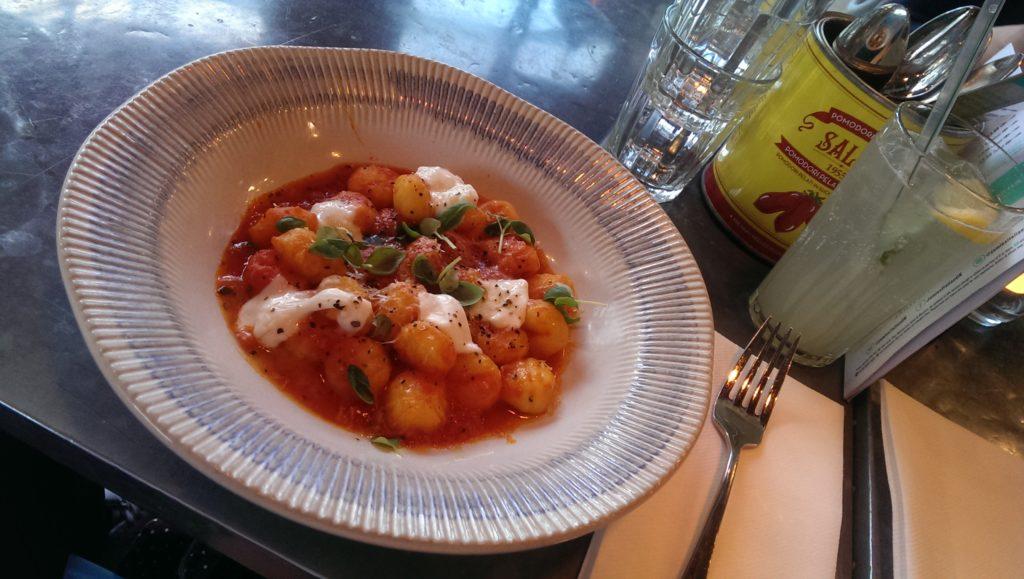 Gnocchi in tomato sauce at Jamie's Italian