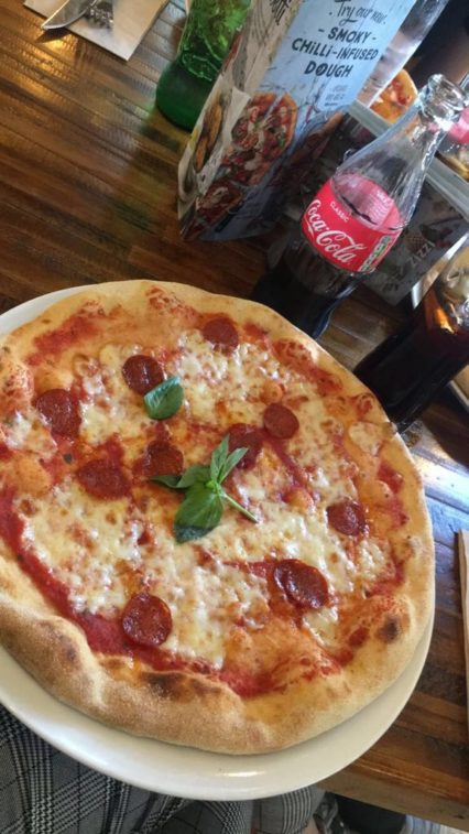 Zizzi Margherita with Pepperoni