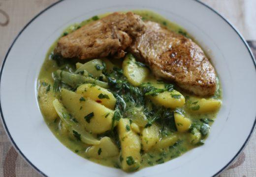 Kartoffel-Spinat-Eintopf