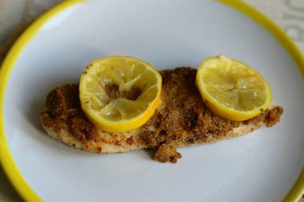 Zitronen Schnitzel mit Panade