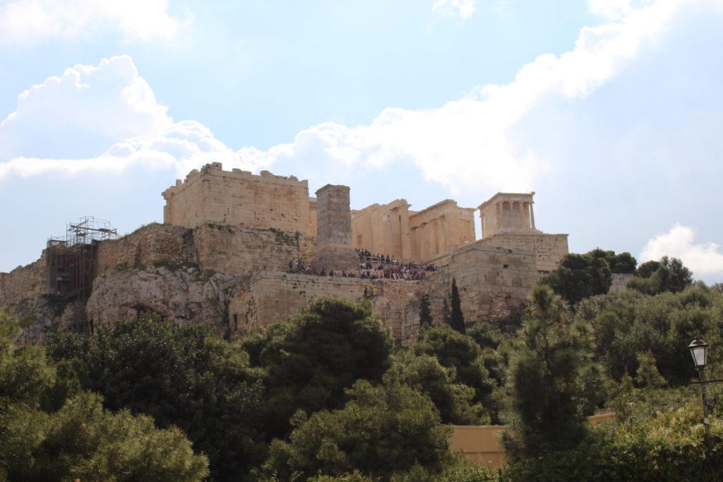 Akropolis vom Fels Areiopagos
