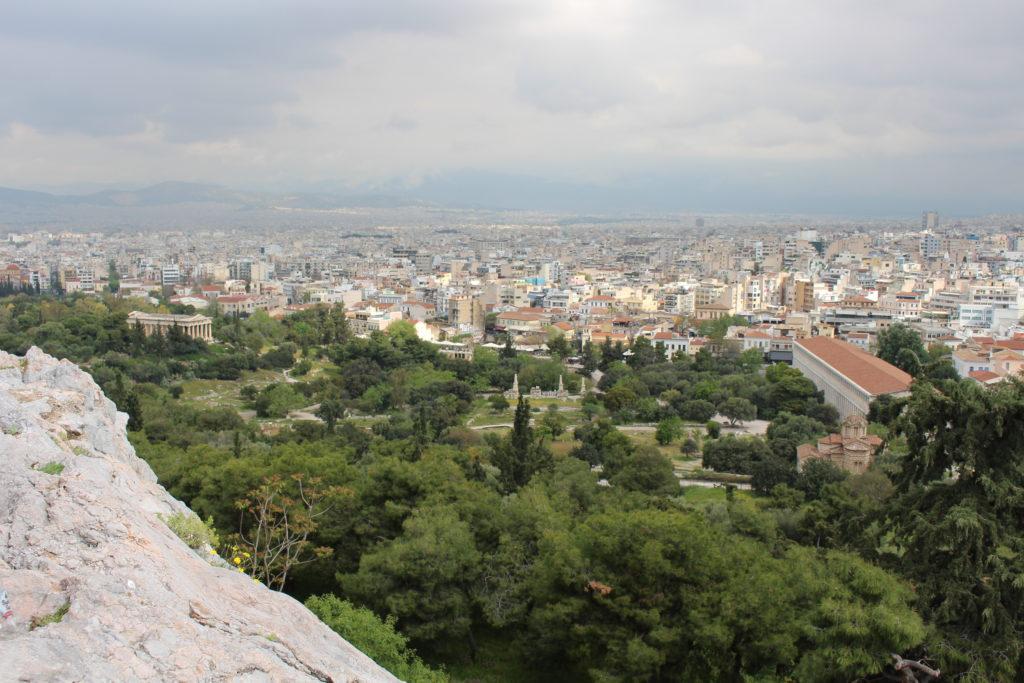 Athen vom Fels Areiopagos