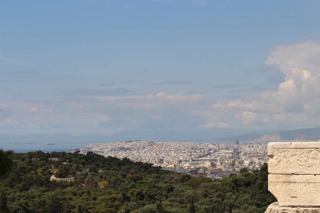 Sicht von der Akropolis Richtung Piräus