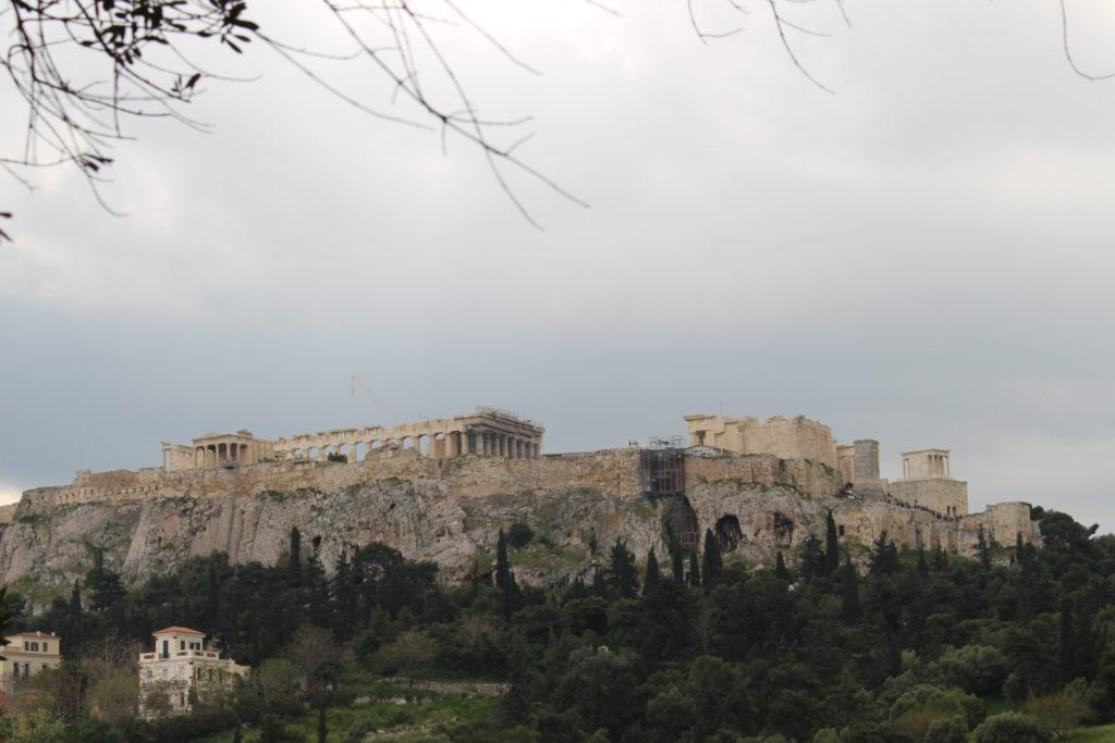 Akropolis von der Agora