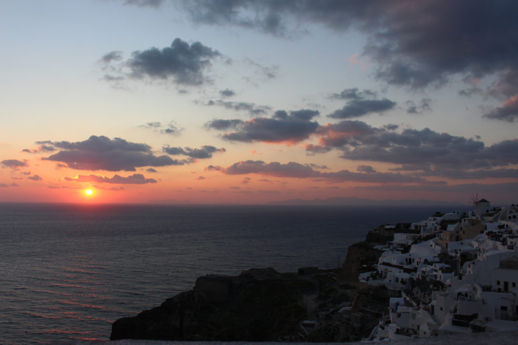 Sonnenuntergang von der Burgruine