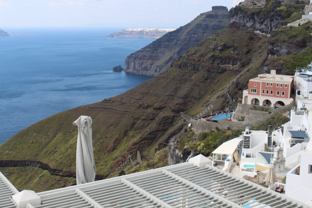 Aussicht von Fira (mit Sicht auf Oía)
