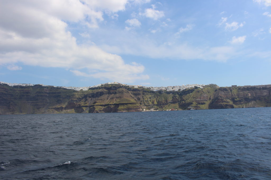 Blick auf die Insel vom Boot aus