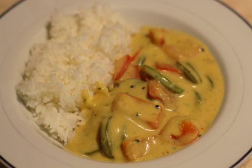 Joghurt Curry mit Reis