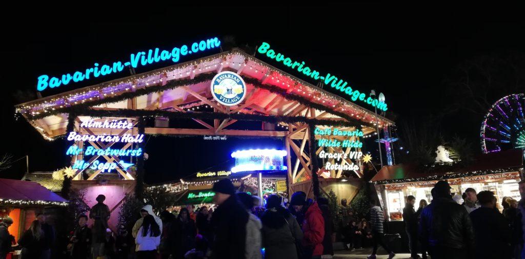Bavarian Village im Winter Wonderland im Hyde Park