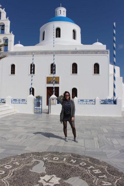Viola auf Santorini