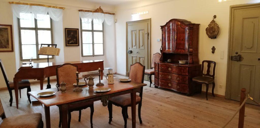 Wohnbereich in Mozarts Geburtshaus