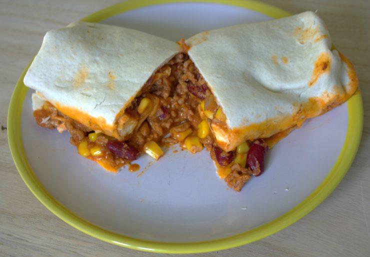 Mexikanische Wraps aus dem Ofen