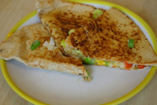 Quesadillas mit Paprika und Mais