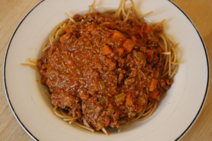 selbstgemachte Spaghetti Bolognese