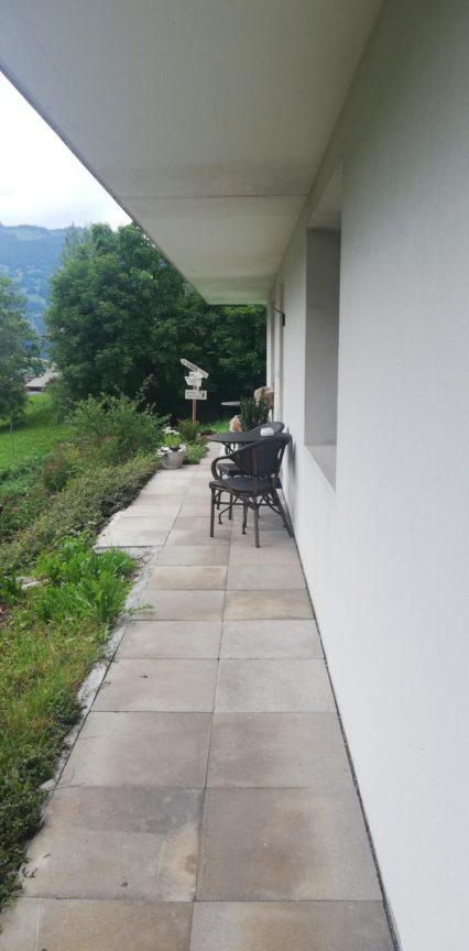 Grindelwald AirBnb Terrasse