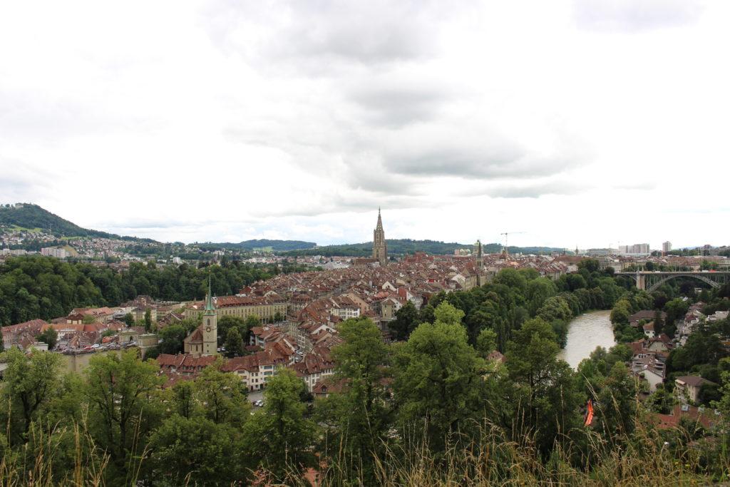 Aussicht auf die Stadt vom Rosengarten